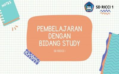 PEMBELAJARAN BIDANG STUDY